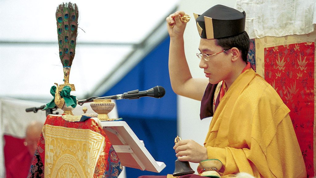 H.P. 17. Karmapa Thaye Dorje Kasselissa vuonna 2000