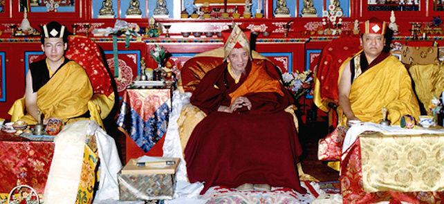 17. Karmapa, Chöbgye Trichen Rinpoche ja Shamar Rinpoche