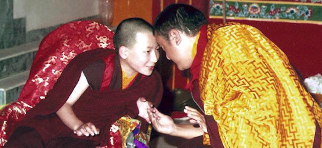 17. Karmapa Trinley Thaye Dorje ja Shamar Rinpoche KIBI:ssä vuonna 1994
