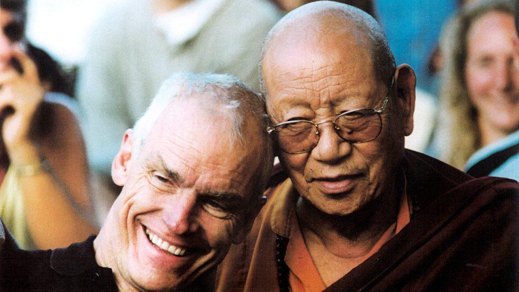 Lama Ole Nydahl ja Lopön Tsechu Rinpoche Grazissa vuonna 1998