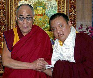 H.P. 14. Dalai-lama ja 14. Shamarpa Mipham Chökyi Lodrö