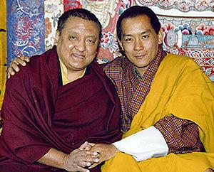 Shamar Rinpoche ja Bhutanin 4. kuningas Druk Gyalpo Jigme Singye Wangchuk